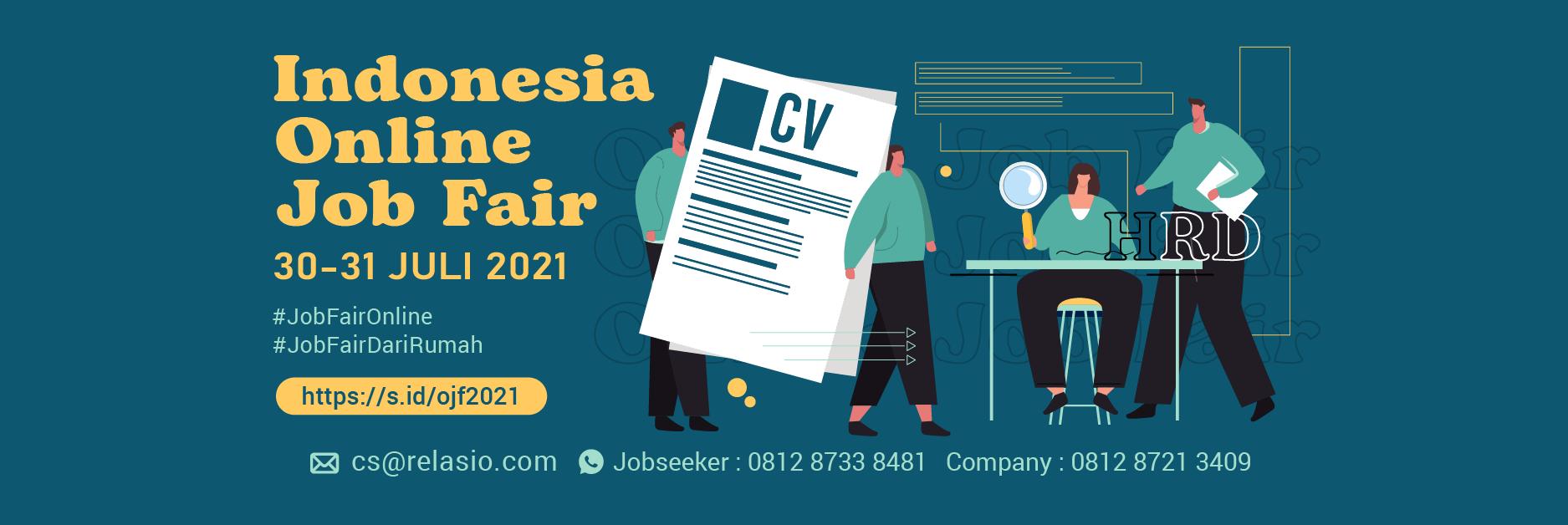 Job Fair Online Relasio.com Juli 2021