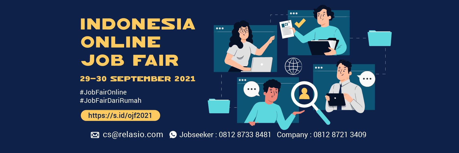 Job Fair Online Relasio.com September 2021
