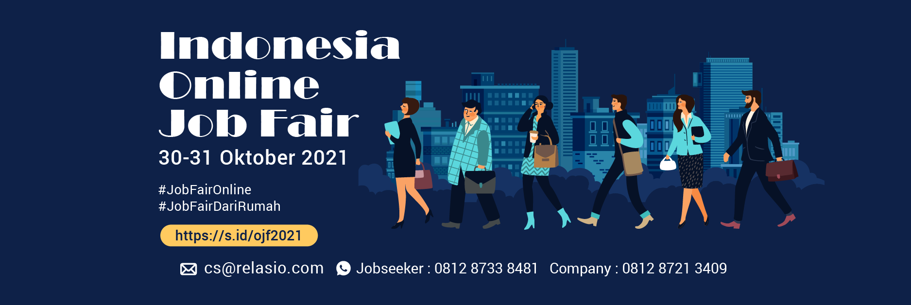 Job Fair Online Relasio.com Oktober 2021